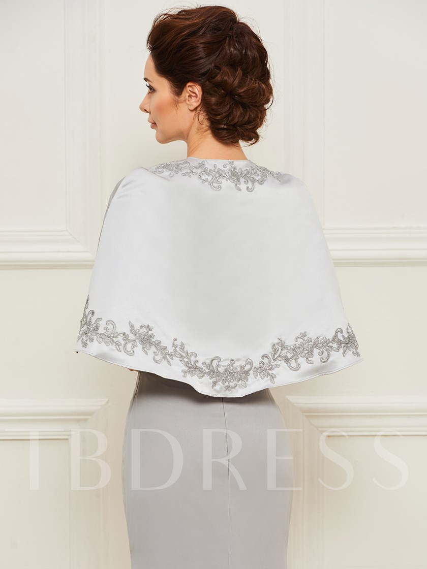 Sweetheart Appliques Mother of the Bride Dress with Shawl