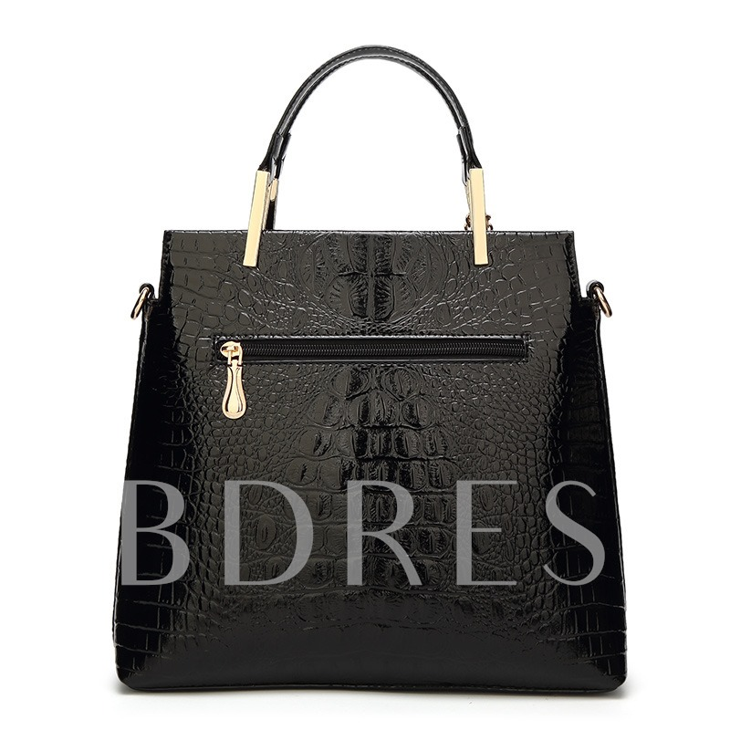 Graceful Croco-Embossed Women Tote