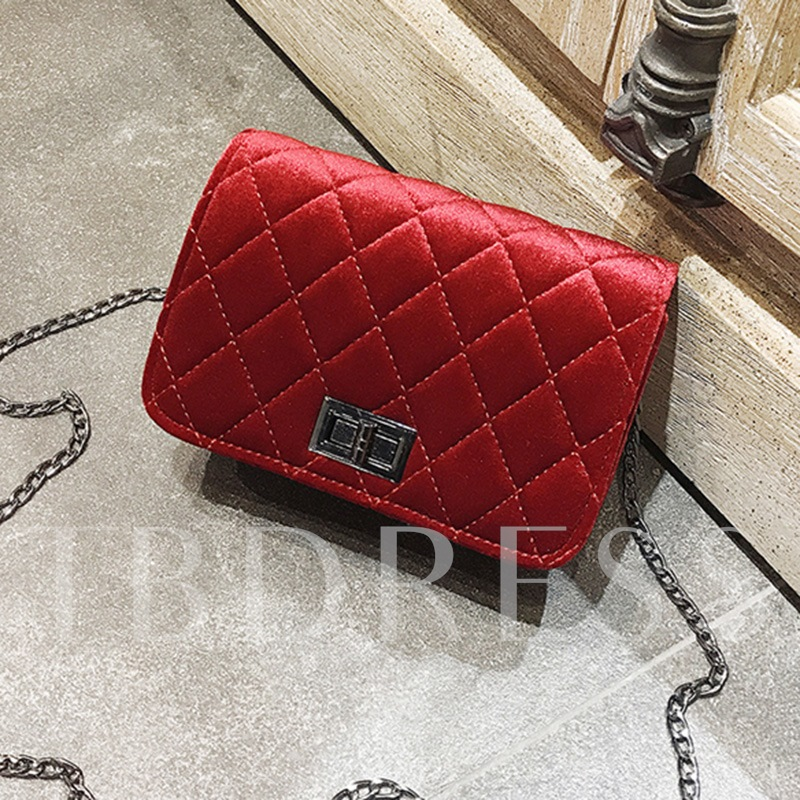 Fashion Quilted Lining Design PU Cross Body Bag