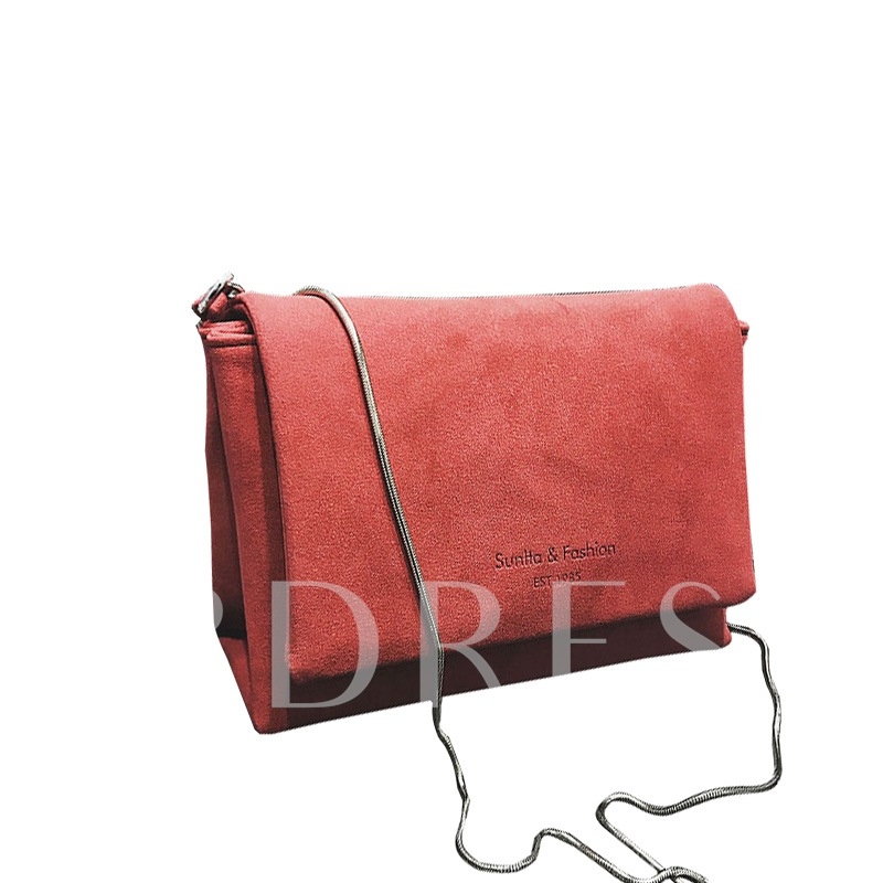 Simple Solid Color Cover Mini Cross Body Bag