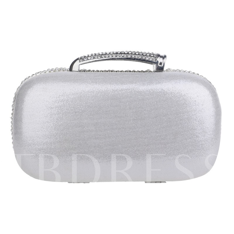 Extravagant Pearls Decoration Mini Clutch