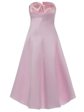 Strapless Zipper-Up A Line Homecoming Dress