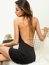 Halter Backless Women's Party Dress