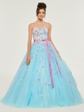 Sweetheart Appliques Bowknot Quinceanera Dress