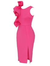 Rose Falbala Women's Bodycon Dress