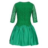 Round Neck Lace Hollow Women's A-Line Dress