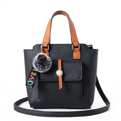 Trendy Color Block Zipper Satchel