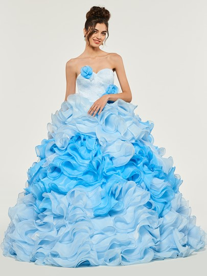 Cascading Ruffles Sweetheart Quinceanera Dress