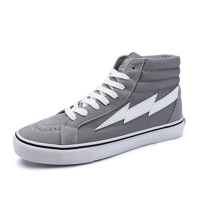 Lace Up Lighting Shaped Men's High Tops Sneaker