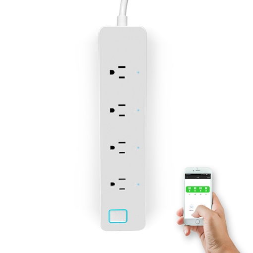 Wifi Smart Power Strip Stecker arbeiten mit Amazon Alexa, App Fernbedienung separat