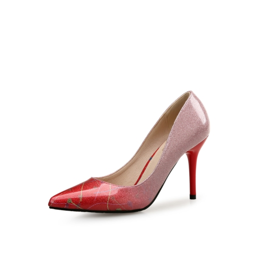 Plant Gradient Pointed Toe High Heels for Women