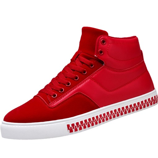 Zip Pattern Platform Lace Up Chic High Tops for Men