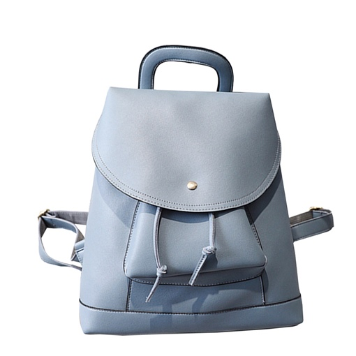 Concise Huge Space Soft PU Backpack
