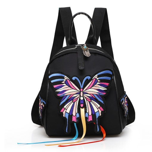 Ethnic Style Personality Embroidery Zipper Backpack