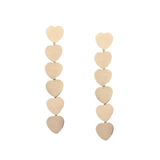 Heart Tassel Alloy Long Pendant Earrings