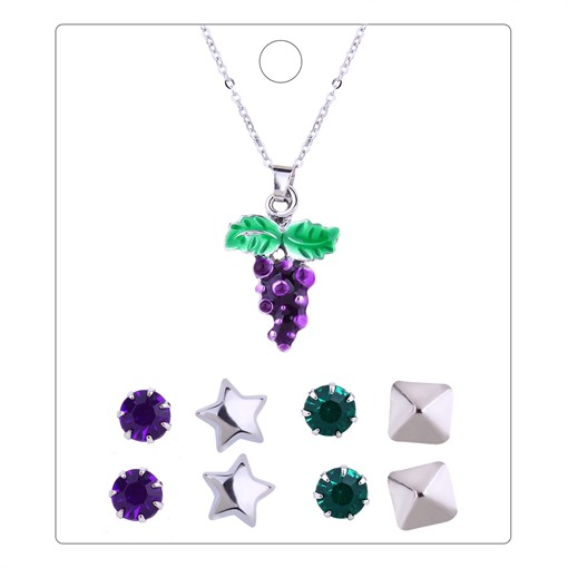 Grape Shaped Star Alloy Jewelry Sets
