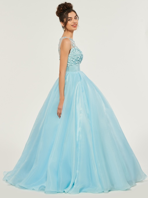 Empire Waist Flowers Quinceanera Dress