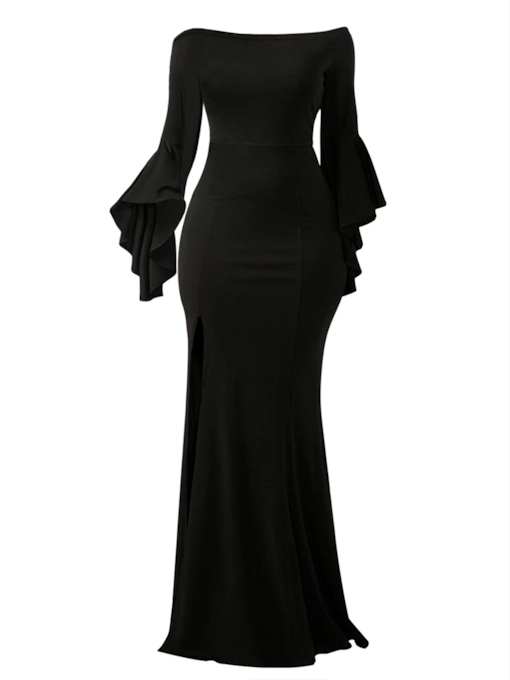 Bodycon Bell Sleeve Women's Maxi Dress