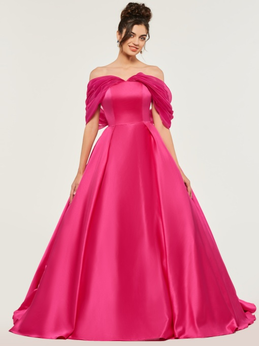 A-Line Off-the-Shoulder Bowknot Quinceanera Dress