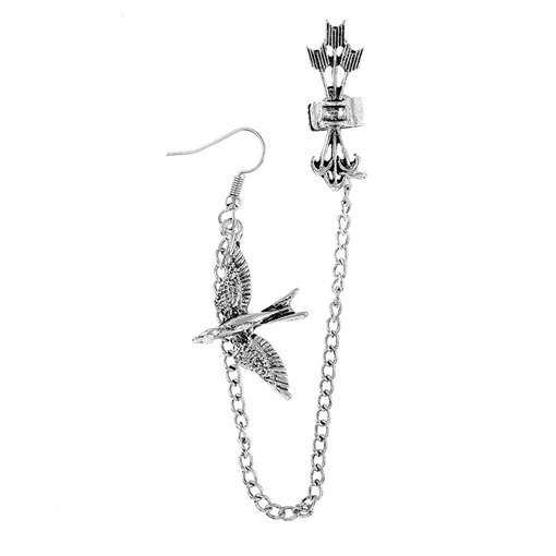 Wing Alloy Silver Plated Earrings