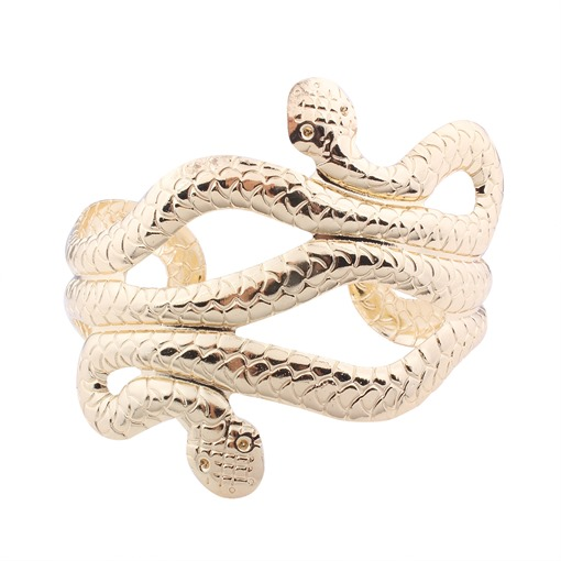 Punk Snake Design Opening Ring