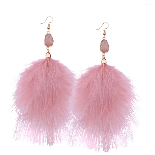 Feather Reshin Alloy Personalized Earrings