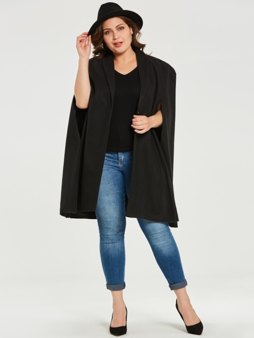 Plus Size Shawl Notched Lapel Women's Blazer