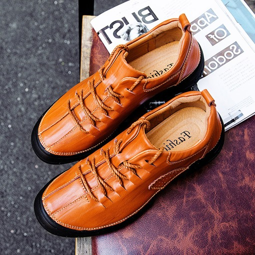 Portative Thread Lace Up Men's Loafers