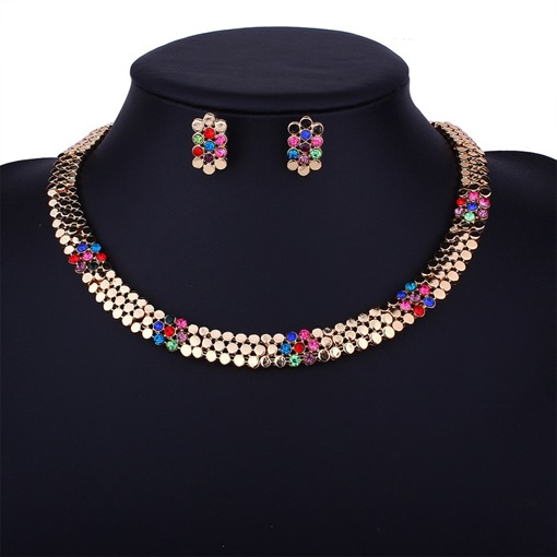 Colorful Alloy Luxurious Jewelry Sets