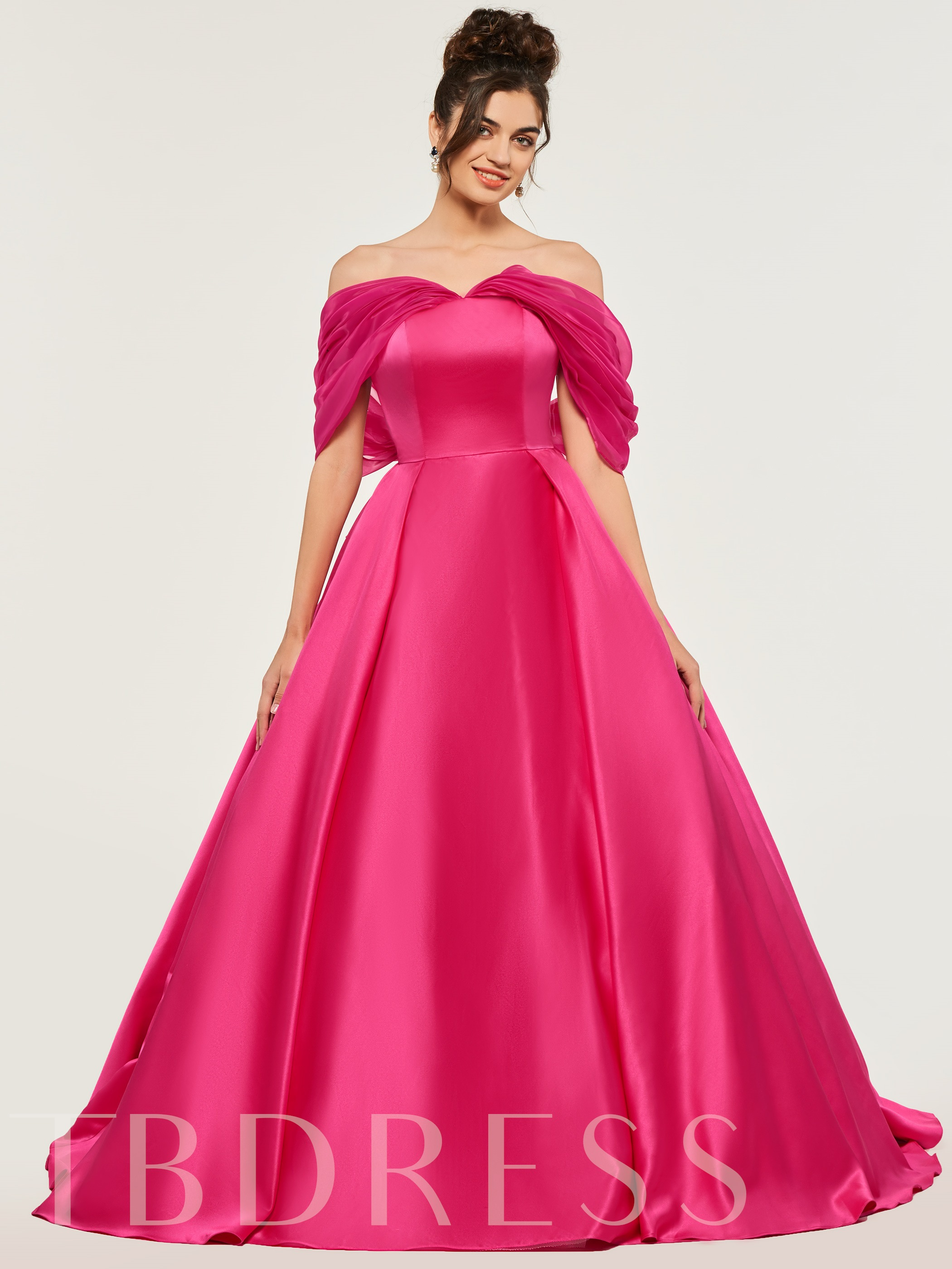 Image of A-Line Off-the-Shoulder Bowknot Quinceanera Dress