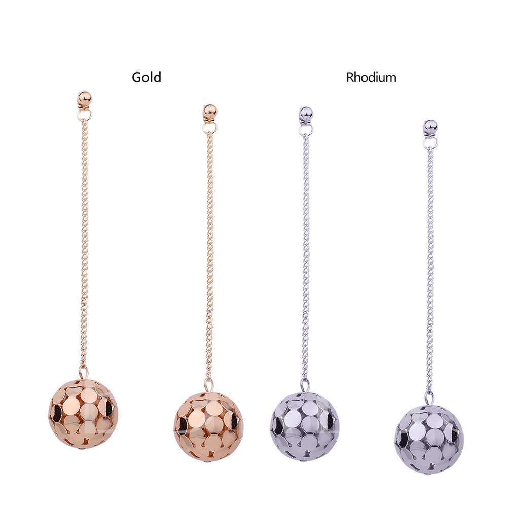 Hollow Out Chain Metal Ball Earrings