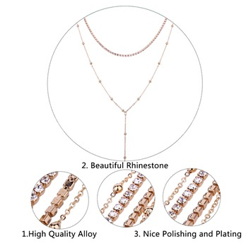 Gold Plated Rhinestone Jewelry Sets