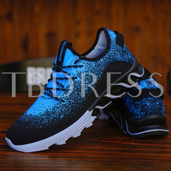 Spandex Lace-Up Color Block Patchwork Thread Men's Running Shoes