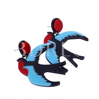 Reshin Color Block Swallow Earrings