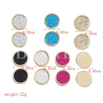 Colorful Round Sequin Combination Earrings