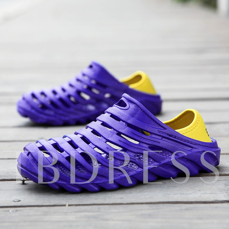 Light Plastic Hollow Men's Summer Slippers