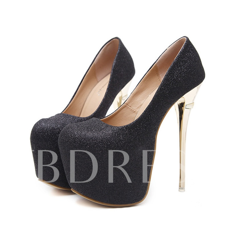 Buy Ultra High Heel Glitter Platform Pumps Prom Shoes for Women, Spring,Summer,Fall, 13131506 for $30.99 in TBDress store
