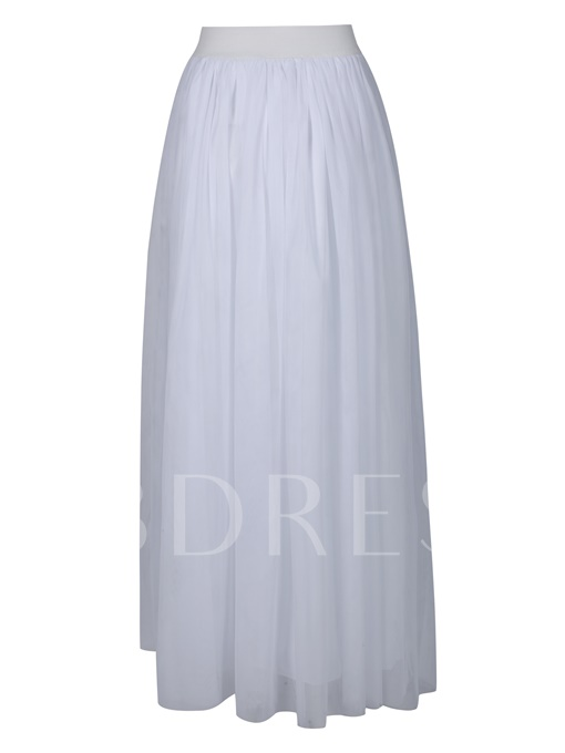 High-Waist Plain Vacation Women's Maxi Dress