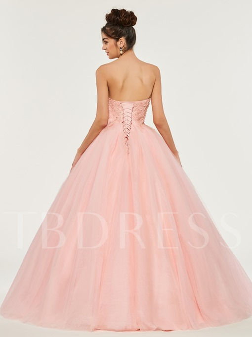 Sweetheart Empire Appliques Beading Quinceanera Dress