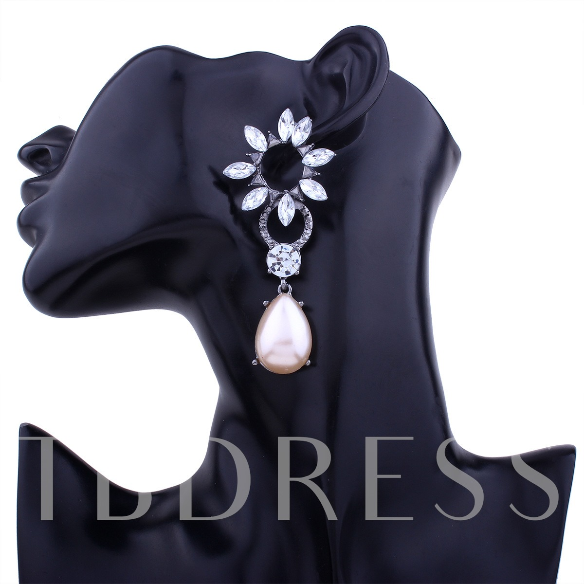 Sunflower Hollow Out Imitation Pearl Earrings