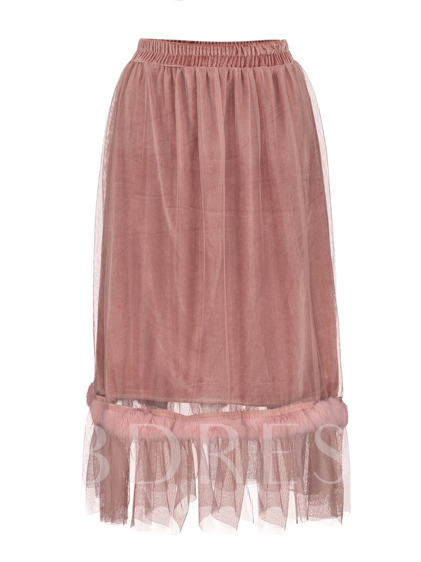 Mesh Patchwork See-Through Vacation Women's Skirt