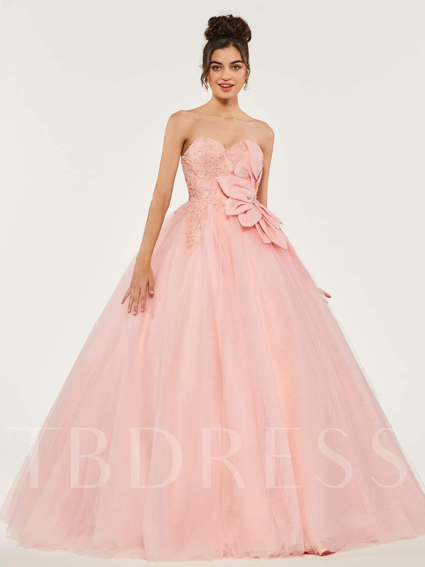 Sweetheart Appliques Beading Quinceanera Dress