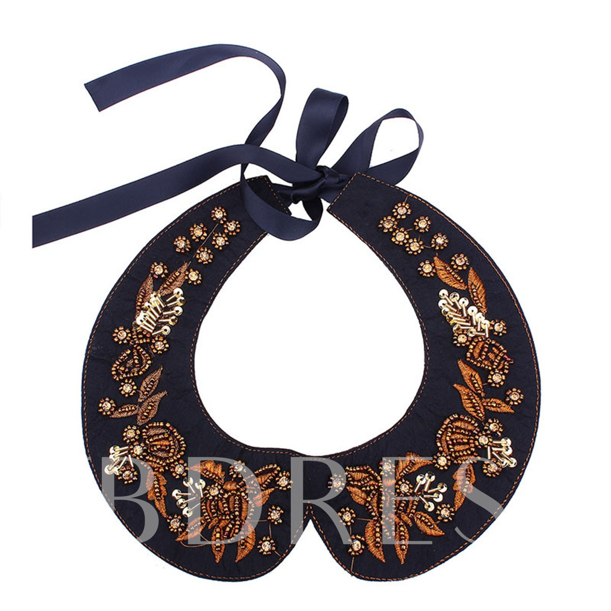 Embroidery Diamante Ribbo Collar Necklace