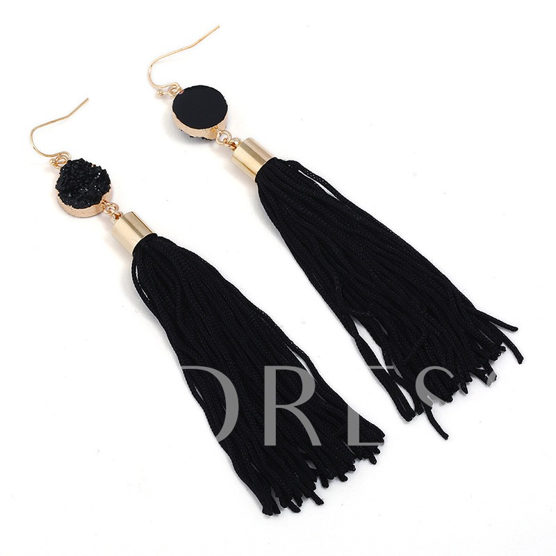 Ethnic Alloy Tassel Alloy Earrings