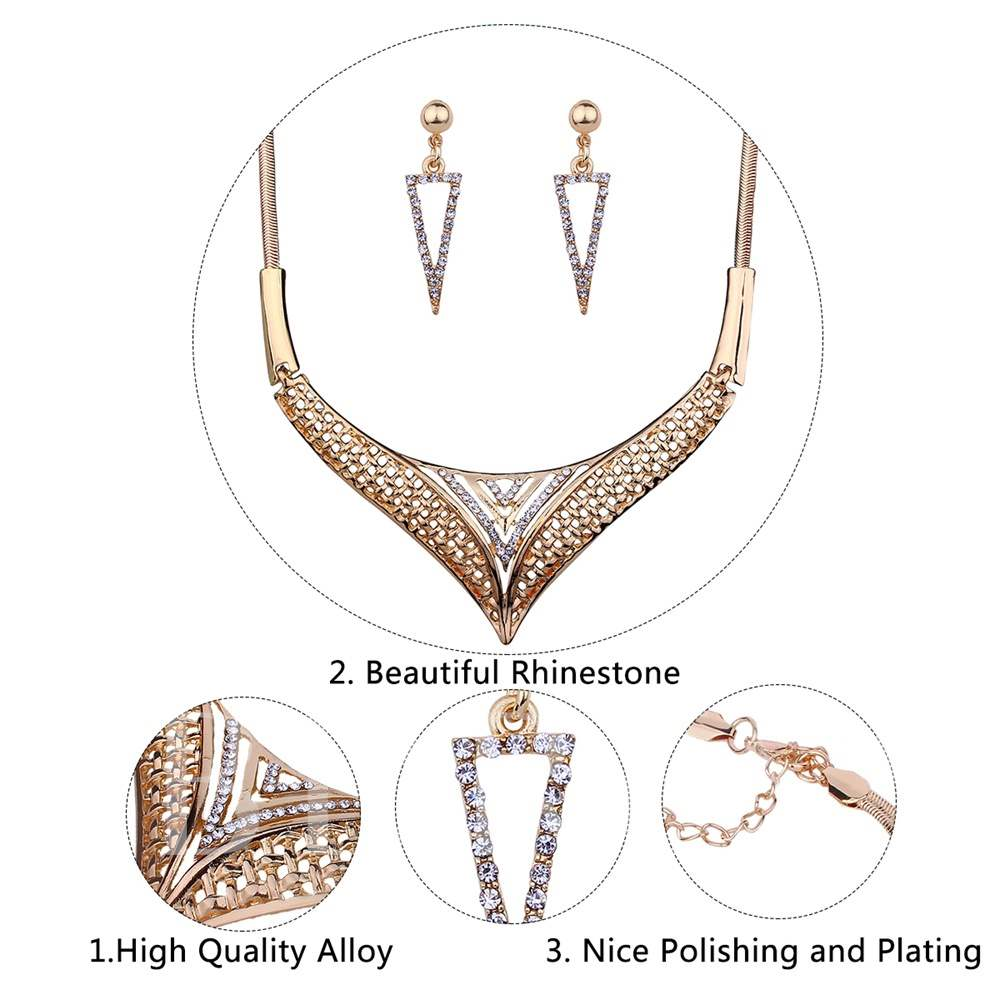 Triangle Diamante Geometric Jewelry Sets