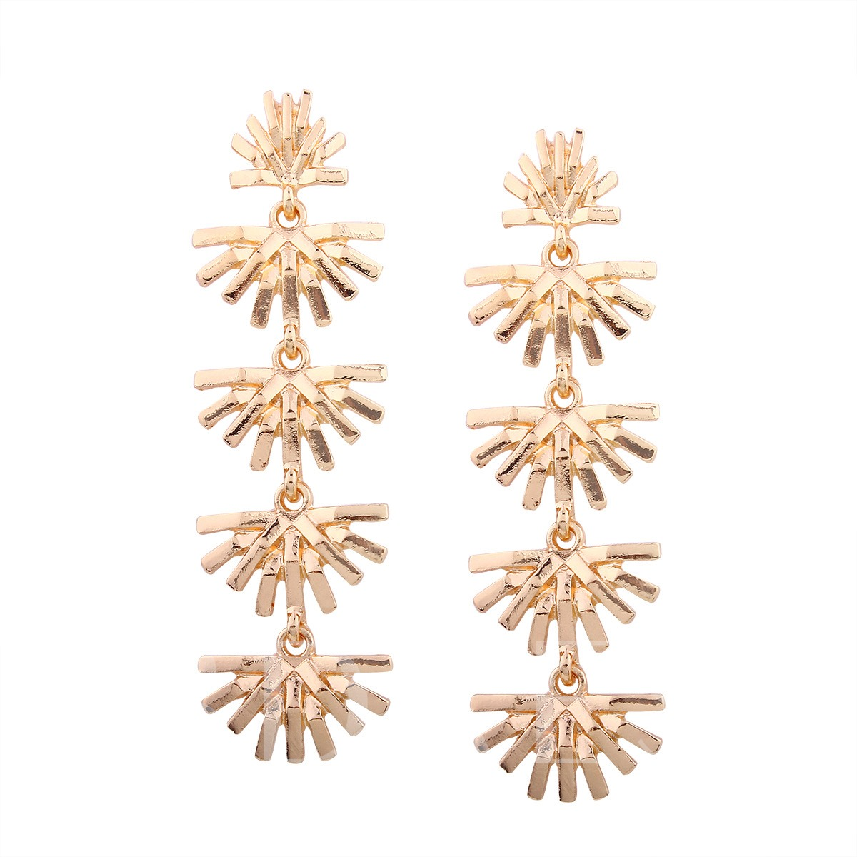 Alloy Geometric Hollow Out Earrings