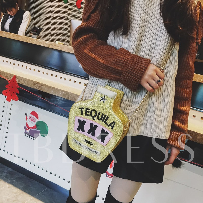 Personality Bottle Design Cross Body Bag