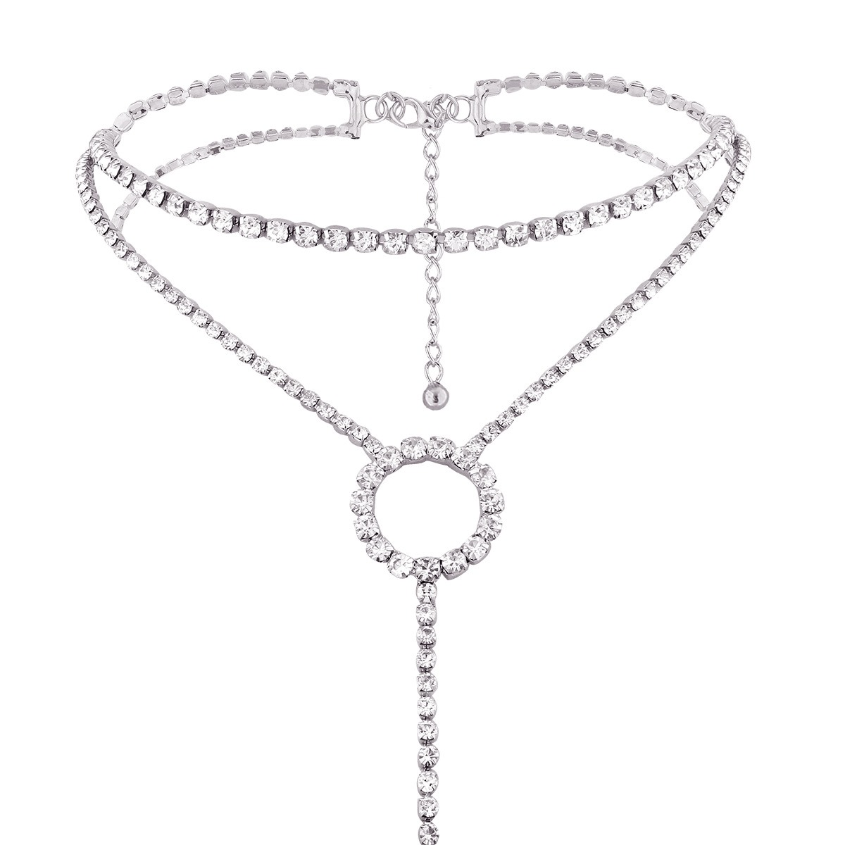 Diamante T-Type Torques Choker Necklace