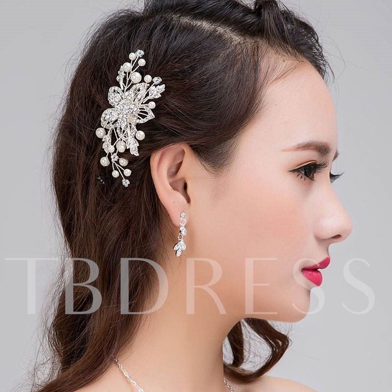 Image of Diamante White Gold Plated Hair Accessories