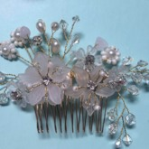 Flower Glass Synthetic Pearl Hair Accessories